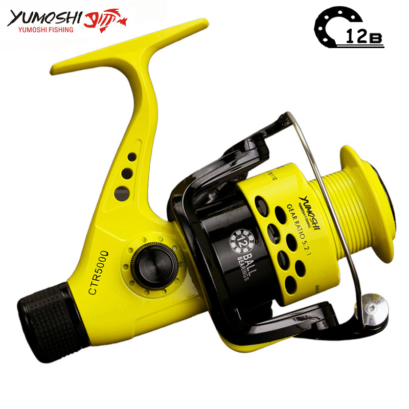 Angelrolle 12BB bremse hinten rad faltbare links/rechts auswechselbare arm spinnrolle für pesca 2000-7000 serie