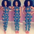 Африканские Базен Riche Платья Новый Промоушен Полиэстер Спандекс Африка Базен Riche 2016 Печать Сексуальная Африканская Женская Одежда