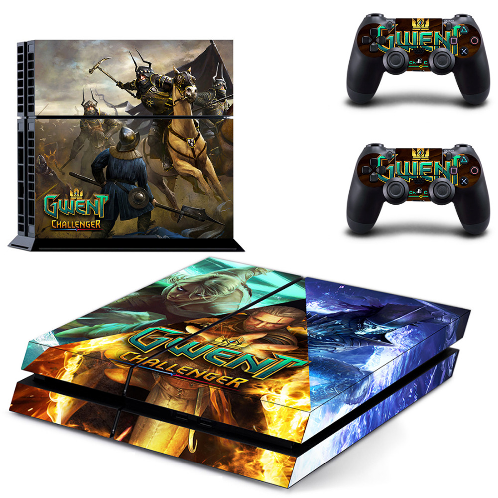 GWENT The Witcher Card Game Challenger PS4 Skin Sticker Decal Vinyl For Sony PlayStation 4 Console and 2 Controllers PS4 Sticker