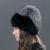Stripe Gorros de Punto Sombreros Skullies Gorros de Piel de conejo Pequeño Erizo Wram Invierno genuino de la Piel De Las Mujeres Del Sombrero y Del Casquillo TM-02