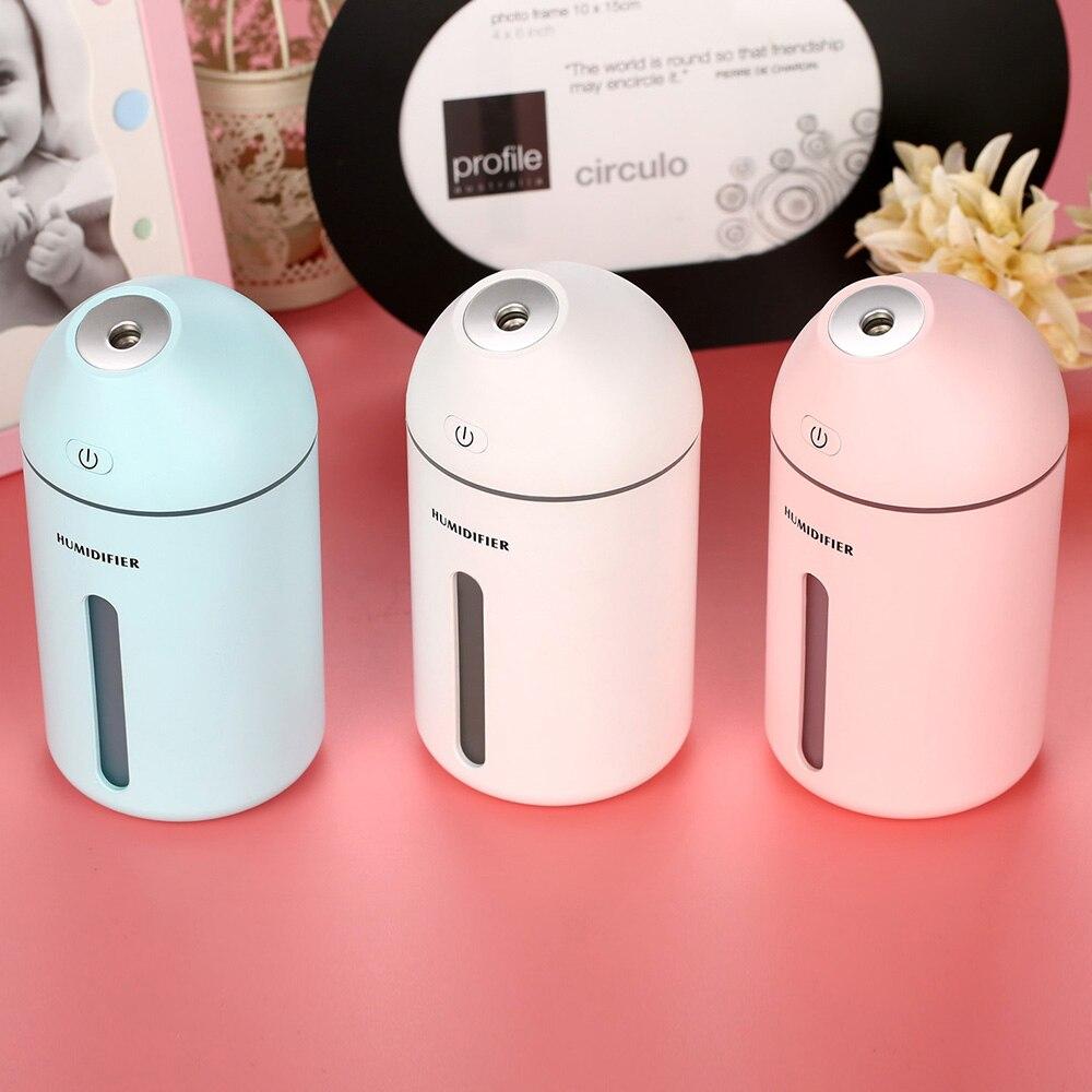 2018 New Cute C9 Humidifier Household USB Mist Maker Desktop Aroma Diffuser 320ML Low Noise Water Sprayer