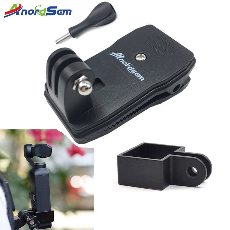 Anordsem Backpack Clip For Dji Osmo Pocket Handheld Stand Expansion Bracket Mount Adapter Handheld Gimbal Accessories