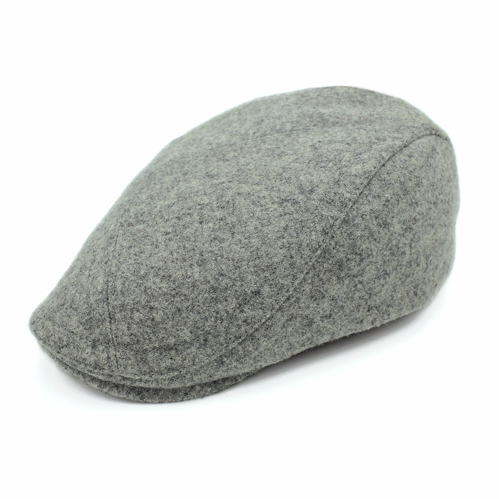 Outfly winter new arrive berest classic design retro mens tradition cap high quality wool warm brand solid hat