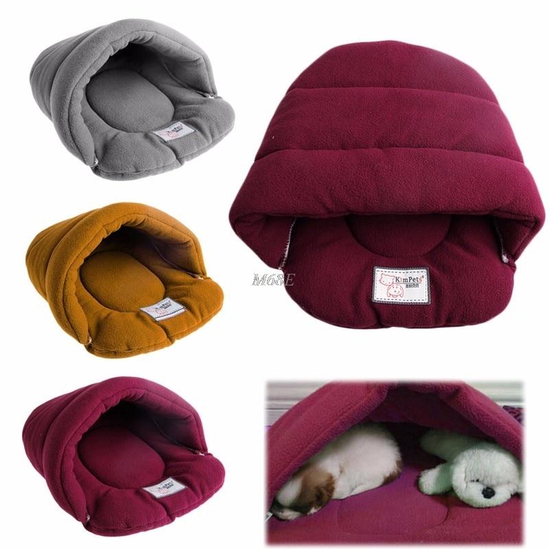 Pet Cat House Soft Warm Winter Dog Cat Bed Flip Flop Cave Dog House Cute Kennel Nest Dog Fleece Cat Bed Yx# #6