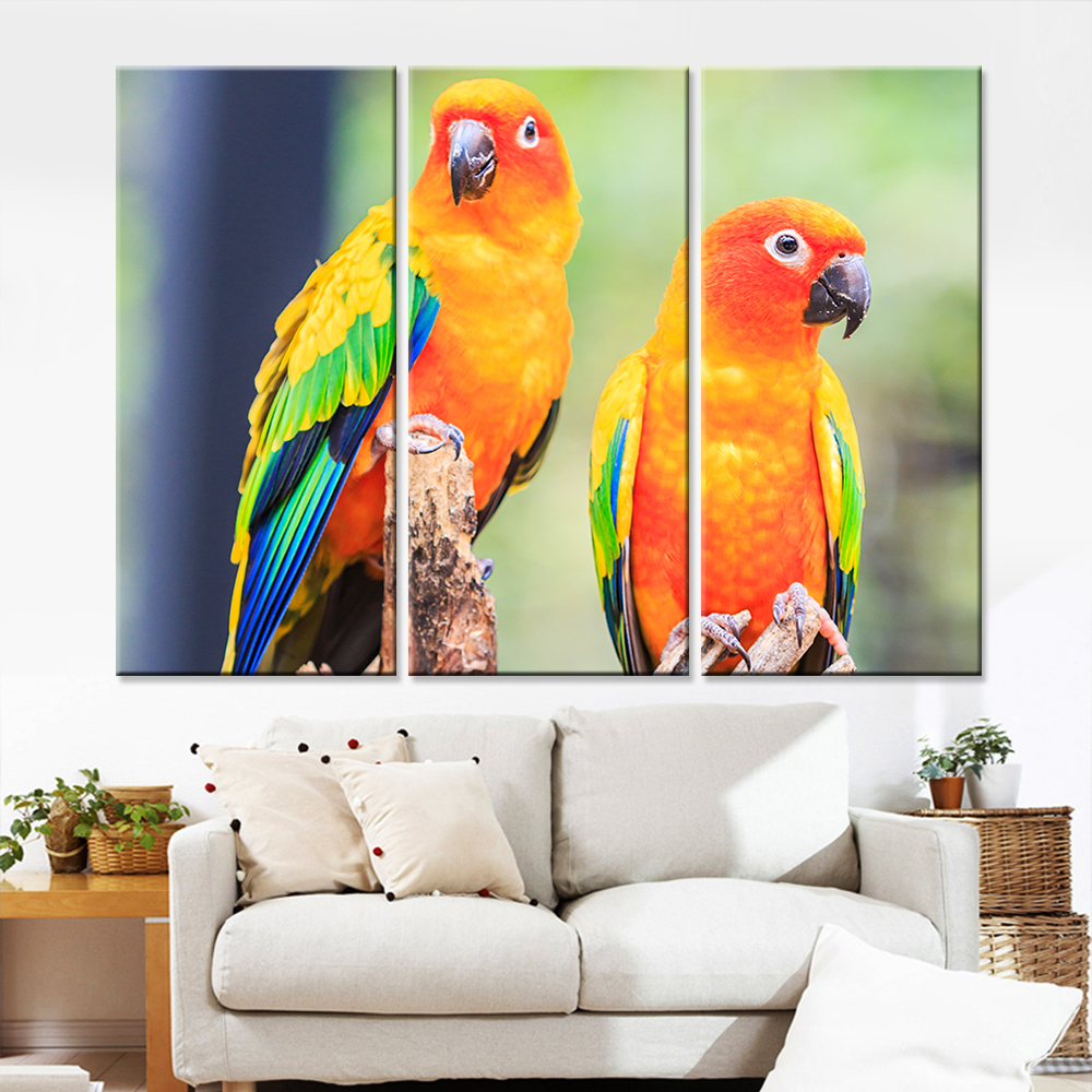compare prices on bird wall art for living room online shopping drop shipping unframed colorful birds painting print on canvas home decor wall art animal oil