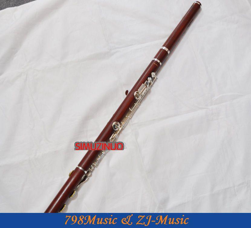 ALTO Flute-Perak Disepuh-ROSE WOOD-G - Alat-alat musik - Foto 5