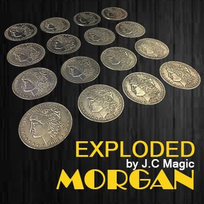 A explosé Morgan Magique Astuces Multiplier Pièce Apparaissant Disparaître Magia Magicien Stade Accessoires Illusion Accessoires Gimmick