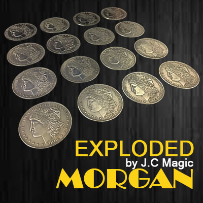 Exploded Morgan Magic Tricks Multiply Coin Appearing Disappearing Magia Magician Stage Accessories Illusion Props Gimmick