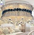 Tela de lujo moderno luces de techo con cristal K9 lámparas de techo dormitorio decoración creativa LED regulable con contral remoto