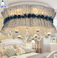 modern luxury fabric ceiling lights with K9 crystal bedroom creative decoration LED dimmable ceiling lamps with remote contral