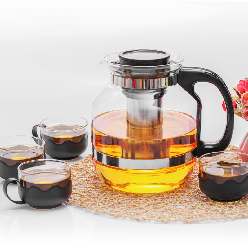2600ml Large Capacity Glass Teapot With Stainless Steel Infuser for tea brewing Heated Container Tea party