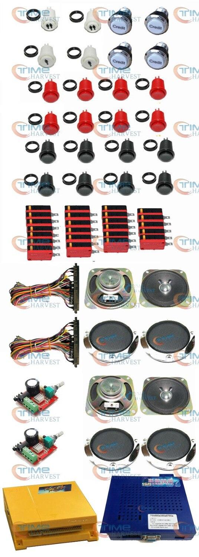 Аркады части Связки с Pandora Box 4S плюс и игры эльф 750 В 1 Джамма доска переключатель жгут Динамик для игровых автоматов