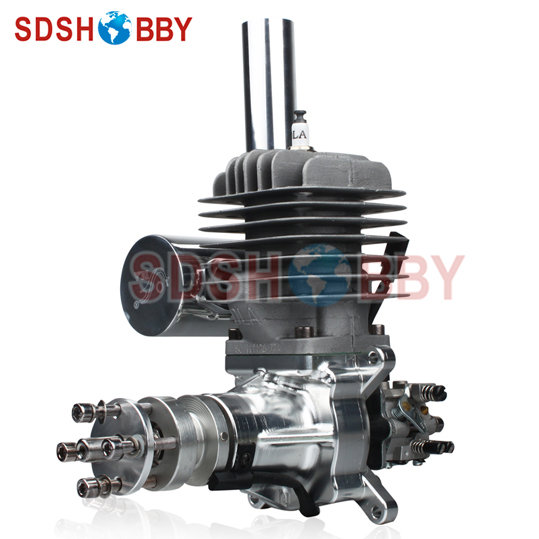 DLA56 CNC Processed Gasoline Engine/Petrol Engine 56CC for Gas Airplanes with Walbro Carburetor and NSK Bearing dla232 cnc processed gasoline engine petrol engine 232cc for gas airplane with four cylinders