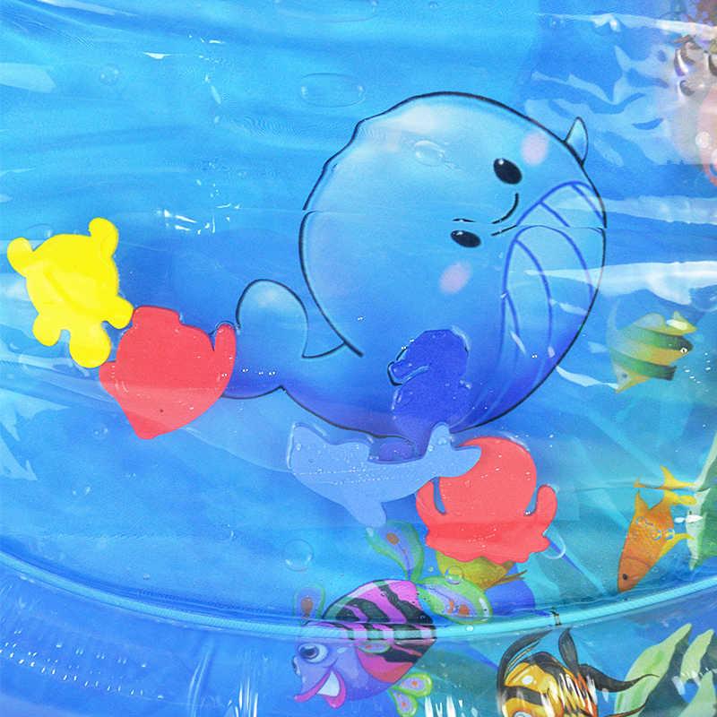 Opblaasbare Tummy Tijd Baby Water Spelen Mat Indoor Outdoor Pad Vullen Fun Water Speelkleed Verjaardagscadeau Draagbare Kids Spel speelgoed