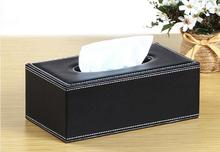 1PC High Quality Fashion PU Leather Tissue Box Cover Car Home Napkin Paper Container Case OK 0748