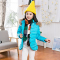 2016 Crianças casacos de inverno meninas jaqueta de pato para baixo da menina casaco com capuz Fino casaco quente meninas macio