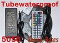IP67 водонепроницаемый 5 м Светодиодная лента 5050 RGB Водонепроницаемый 300led RGB полоса света + 44key ИК пульт дистанционного управления + 12v5a адаптер