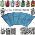 1 Pc Various Lace Arabesque Flower Pattern Nail Art Stamp Template Image QJ-L Nail Stamping Plate