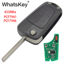 WhatsKey 433Mhz PCF7946 Chip 2 Buttons Remote Flip Car Key For Opel/Vauxhall Astra H 2004 - 2009 Zafira B 2005 - 2013 цена