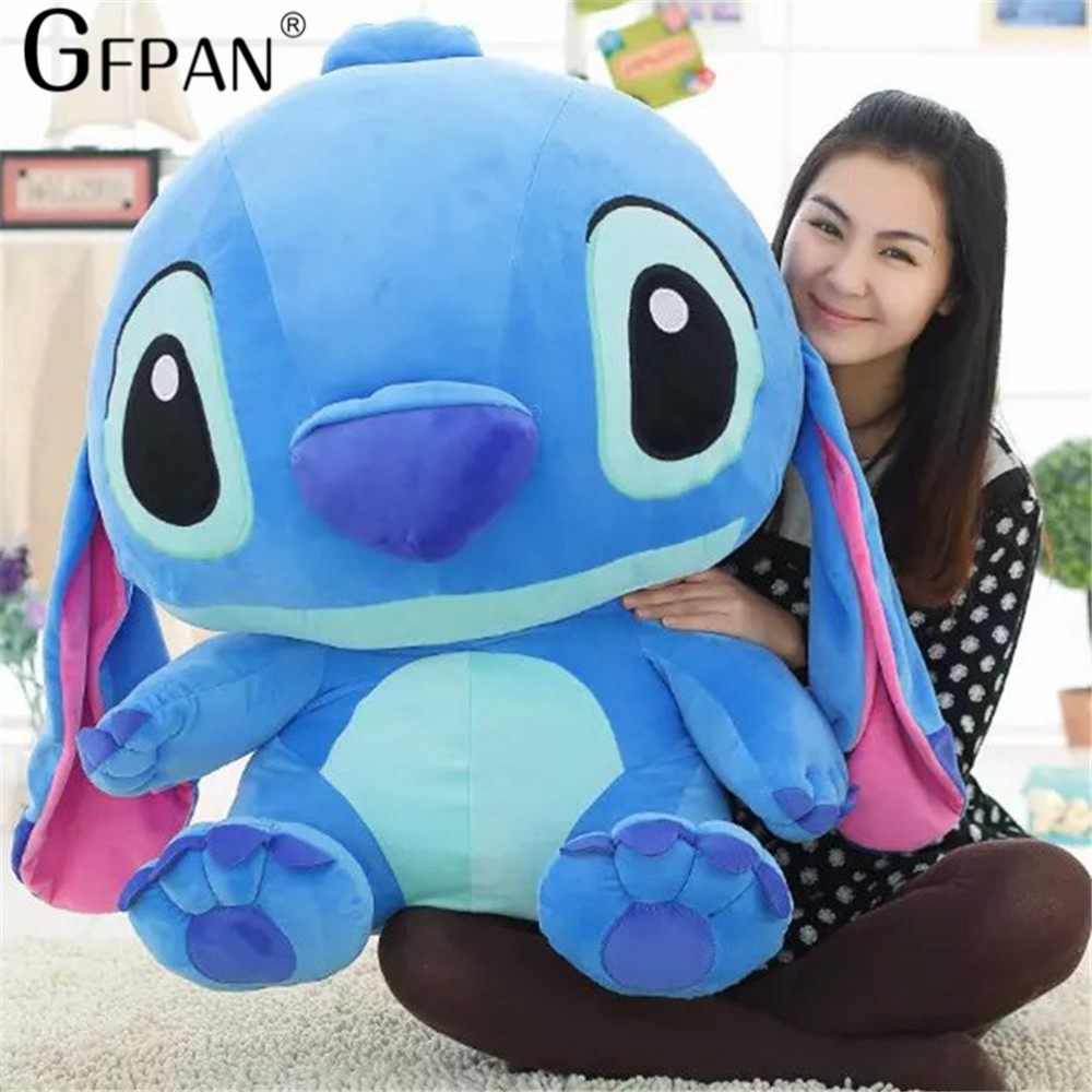 Huge Size 80cm Lovely Stitch Plush Doll Anime Lilo and Stitch Cute Stich Stuffed Cartoon Toys for Children Kids Birthday Gift - 4