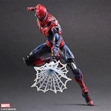 1/7 scale figure doll Comics version Spiderman 10″ action figure doll Collectible Figure Plastic Model Toys