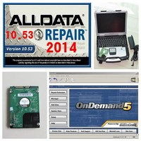 2017 Hot Sales Alldata Auto Repair Software 10.53 All data + Mitchell on demand 2015 installed CF-30 4g toughbook laptop DHL FRE