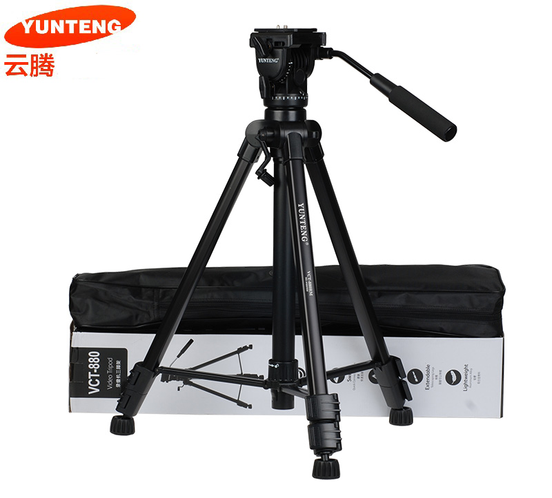 New Photographic Equipment Yunteng VCT-880 Aluminium Tripod for Canon & Nikon Micro Film SLR Camera Tripod yunteng vct 690 new photographic equipment aluminium flexible tripod for for nikon canon slr digital camera support with bag
