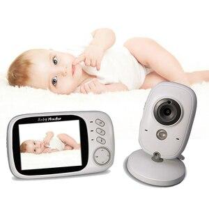 Image 1 - ワイヤレスベビーモニター VB603 3.2 インチ電子ベビーシッターラジオビデオカメラでナイトビジョン温度監視