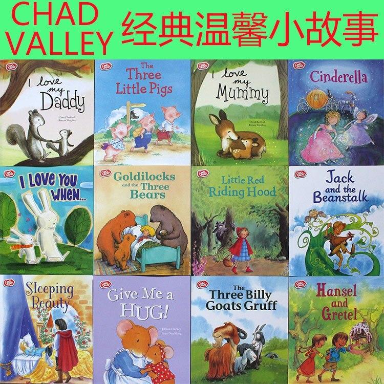 Чад долина: 12 шт. 19X22 см для мальчиков и девочек история иллюстрированная книга изучение английского от этих история книги малыш мультфильм ...