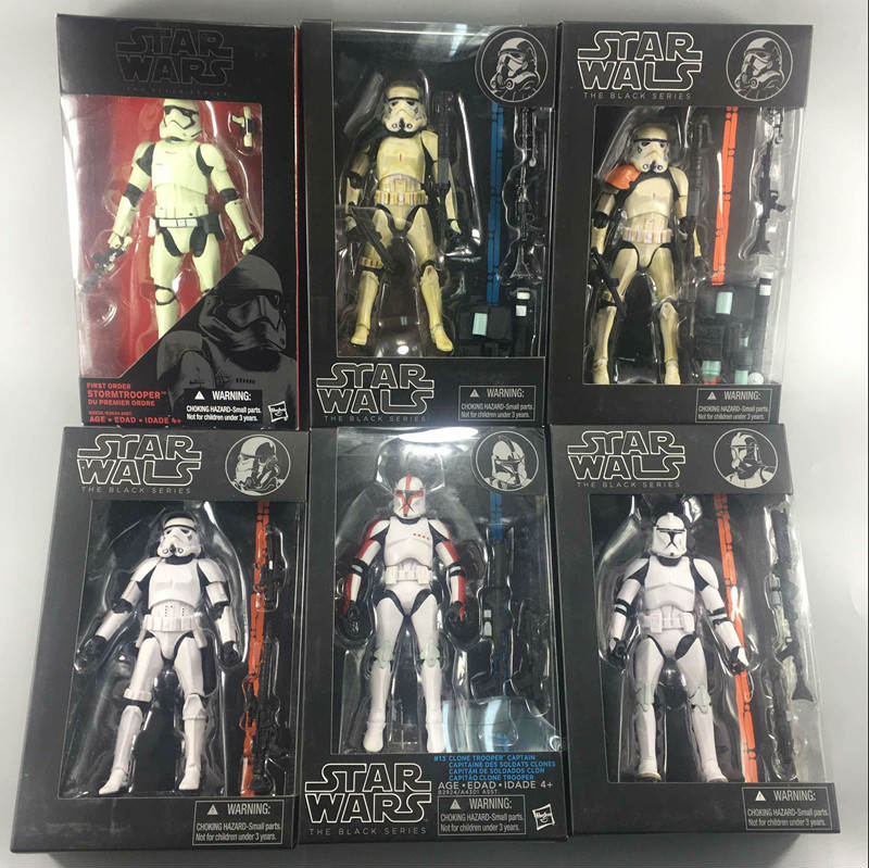 14 styles Collection Star Wars Funs Action Figures The Black Series Darth Vader Stormtrooper PVC Toys for Children Dolls Models 6pcs set disney trolls dolls action figures toys popular anime cartoon the good luck trolls dolls pvc toys for children gift