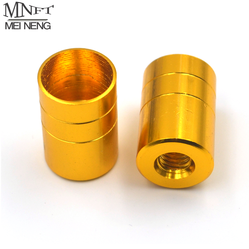 MNFT 2Pcs Fishing Rod Converted Into Dip Net Head M8 Screw Adapter Joints Connector Fishing Tackle 16MM Inside Diameter