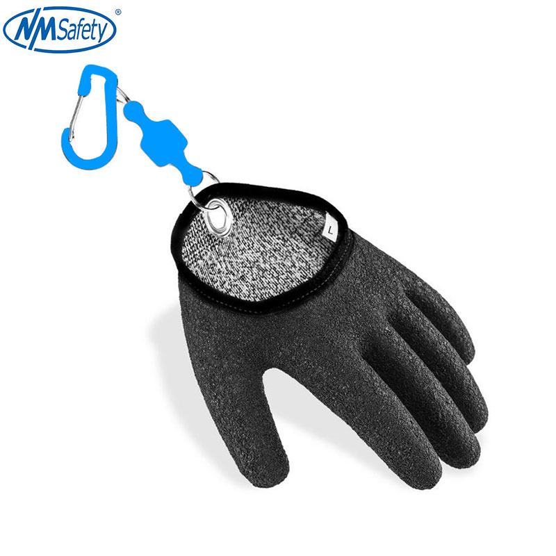 Anti Cut Resistant Fishing Gloves Work For Handling Fish Safely With Magnet Release