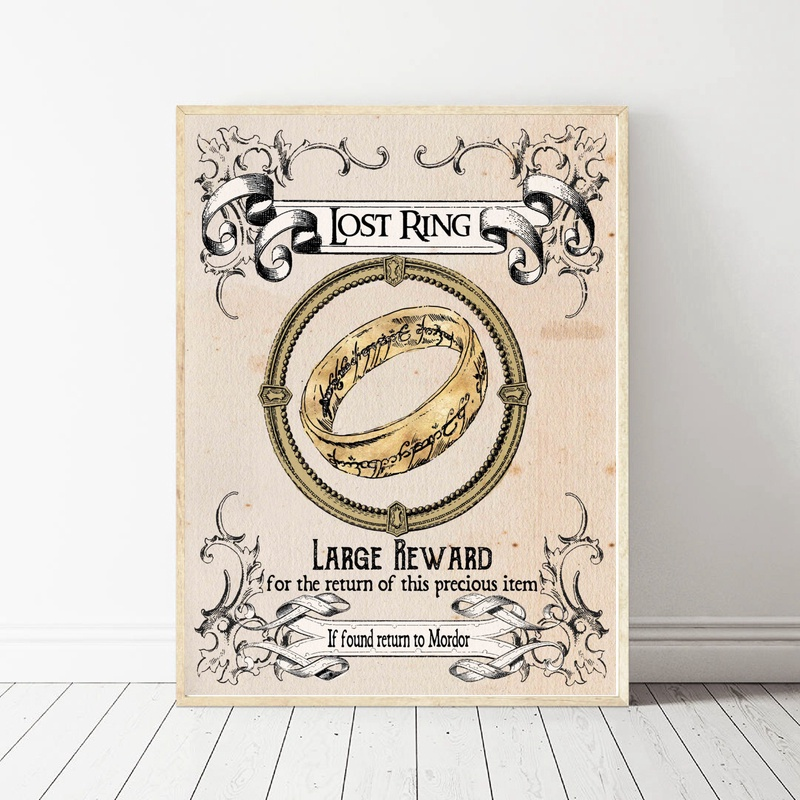The Lord of The Rings Movie Art Canvas Poster Wall Pictures for Living Room image