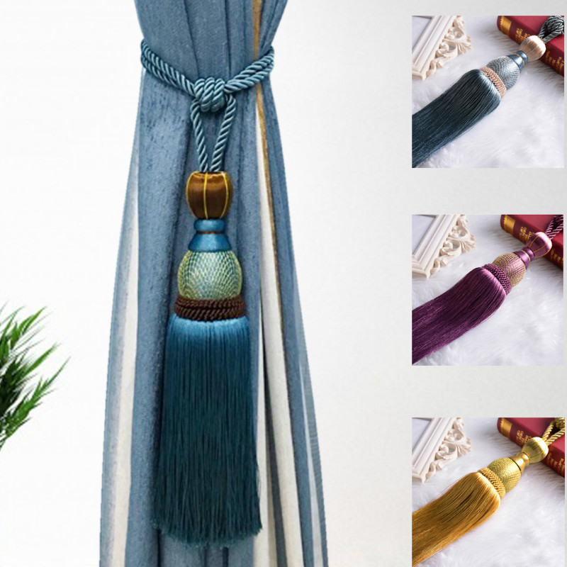 1 Pair Curtain Hook Hanging Ball Bandage Lashing Lobbing Decoration Tassel Luxury Home Decoration Hanging Balls Home Decor autopro scratch magic eraser