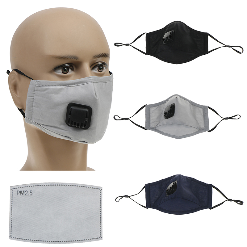 1 Pc De Boca De Algodón Máscara Anti Polvo Pm2.5 En La Boca Con Respirador De Filtro De Carbono Activado Tela Máscara