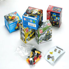 Minesweeping Car Boys Assemble Action Figures Educational Building Blocks Toy Kids Children + Box