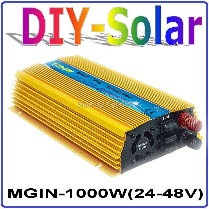 цена на 1000W MPPT Grid Tie Inverter 36V, 24-48VDC Input to 120V/230VAC Pure Sine Wave Output Micro on grid tie inverter 1000W 36V