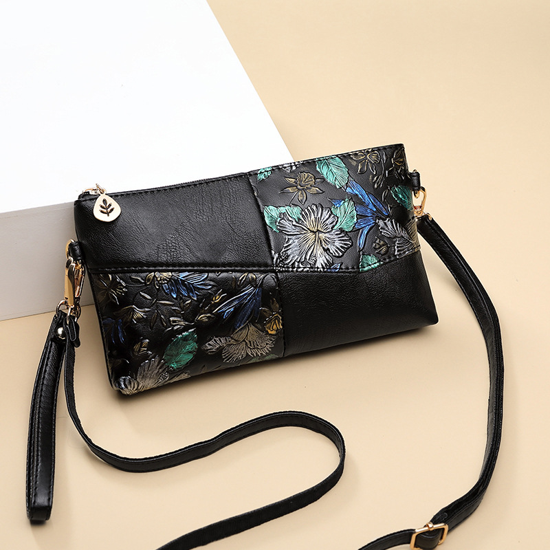 2019 Women Bag Female Shoulder Bag Flower Floral Crossbody Leather Zipper Pocket Messenger Handbags Mini Femme Designer Vintag 5