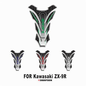 Hot sale Motorcycle 3D fuel tank pad sticker protective decorative decal For KAWASAKI ZX-9R zx9r Fishbone Protective Decals(China)