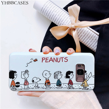 YHBBCASES For Samsung S10 Plus Case Cute Cartoon Peanuts Soft Silicone Cases Galaxy S8 S9 Note 8 9 Phone Cover
