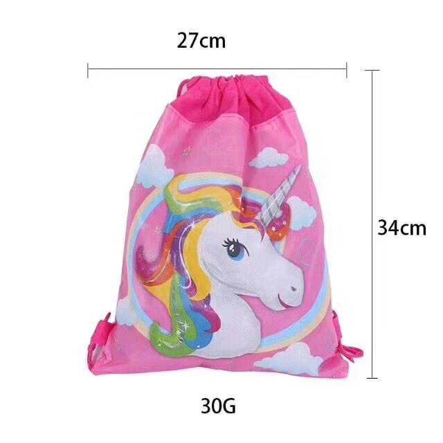 60pcs unicorn cartoon kids boy mochila gift bags travel bag party supplies drawstring bag Fabric non