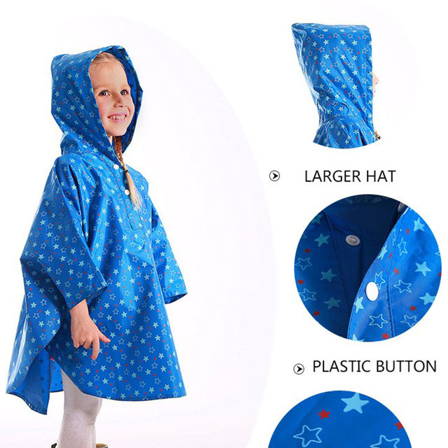 Tienda Online Yuding niño Poncho de lluvia niños niñas impermeable ...