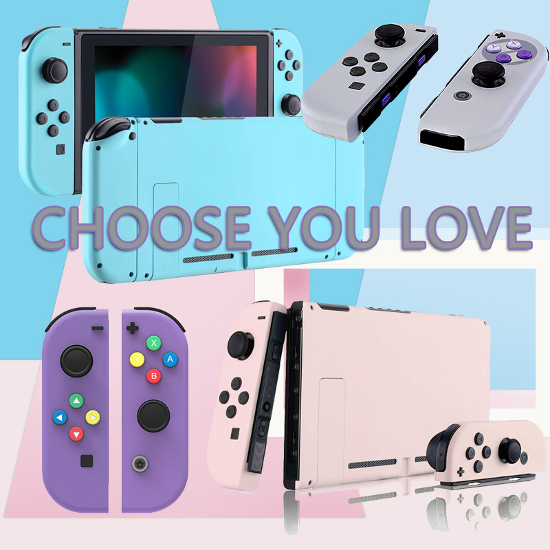 For Nintendo NS Switch Console Housing Shell Soft Touch Grip Back Plate Switch NS Joy Con Handheld Controller Housing Shell Case
