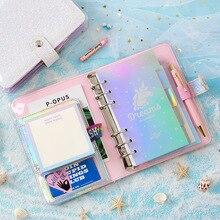 Kawaii DIY Agenda Planner Organizer A6 Diary Diamond Notebook Bullet Journal Spiral Binder Korean Ring Handbook Travel Note Book