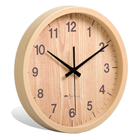 14 Inch Round Wall Clock Wooden Modern Design Antique Wooden Wall Clock Big Home Christmas Home Decoration Accessories W6C0003