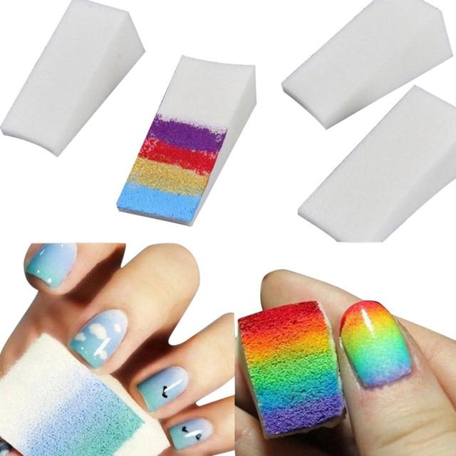 1 PC Macio Triângulo Prego Transferência Art Stamping Stamper Pintura Imagem Do Selo Da Espuma Esponja Gradiente Coloring DIY Polonês Gel UV ferramenta 6