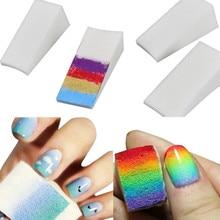 1PC Soft Triangle Nail Art Transfer Sponge Gradient Coloring Stamping Stamper Painting Image Stamp Foam DIY Polish Gel UV Tool 6