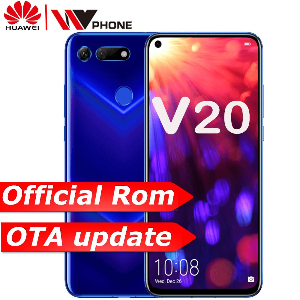Honor v20 HUAWEI honor View 20 lien Turbo Smartphone honor V20 Android 9 Support NFC recharge rapide téléphone portable