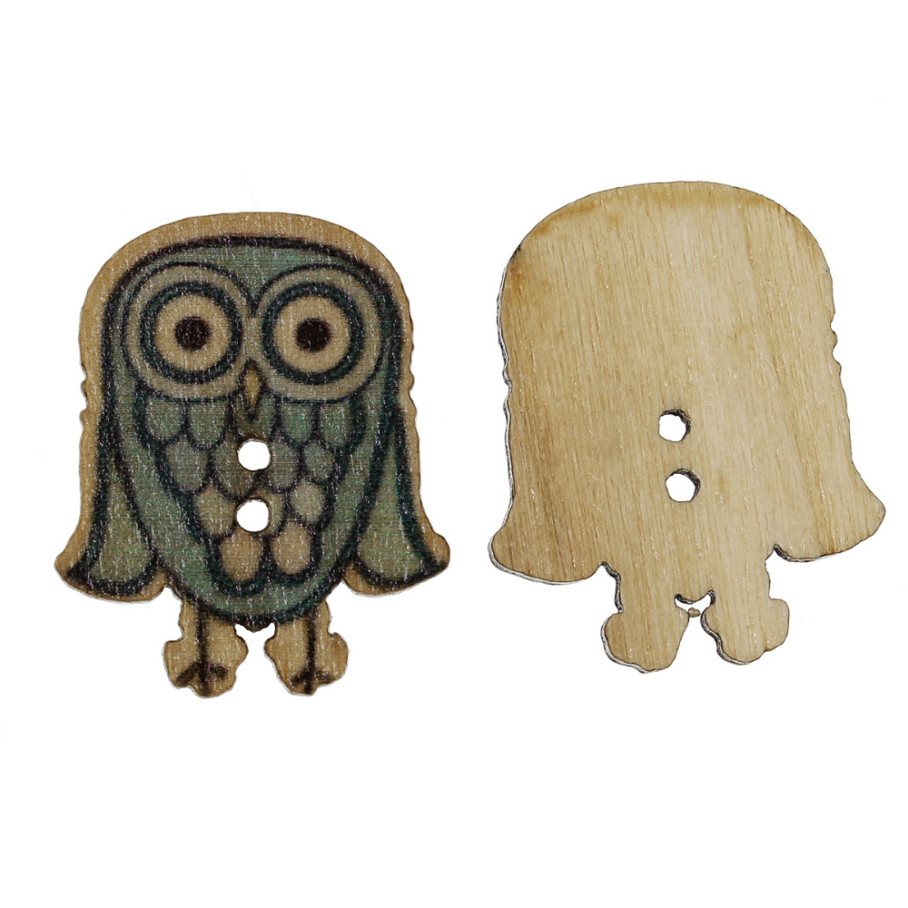 Doreenbeads Crafts Wood Sewing Buttons Scrapbookin
