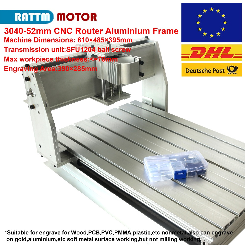 US $337 7 |CNC 3040 ruoter machine aluminium Frame DIY 390x285x55mm SFU1204  ballscrew for CNC router milling machine-in Wood Routers from Tools on